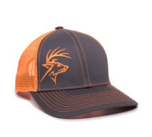WHITETAIL-Charcoal/Neon Orange-One Size Fits Most