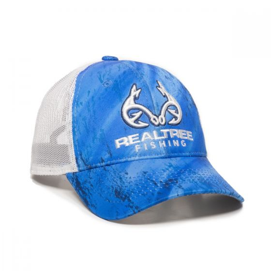 RT06A-Realtree Fishing Light Blue/White-One Size Fits Most