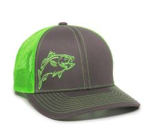 BASS-Charcoal/Neon Green-One Size Fits Most