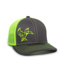 GREENHEAD-Charcoal/Neon Yellow-One Size Fits Most