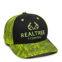 RTF02A-Black/Realtree Fishing™  Dark Lime-One Size Fits Most