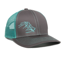 WILDBOAR-Charcoal/Teal-One Size Fits Most