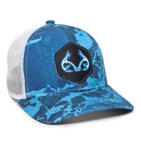 RTF04A-Realtree Fishing™ WAV3 Provence Blue/White-One Size Fits Most