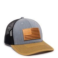 USA771-Heathered Grey/Black/Old Gold-One Size Fits Most