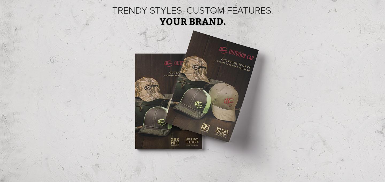 Trendy Styles. Custom Features. Your Brand. Explore Custom Retail Headwear