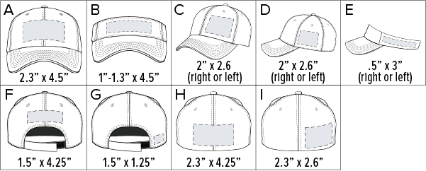 Embroidery Logo Placement and Size Chart